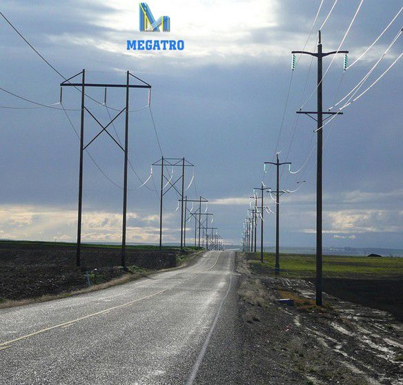 Stacked H Frame Electrical Poles : Megatro offers kv steel h frame structures that can be