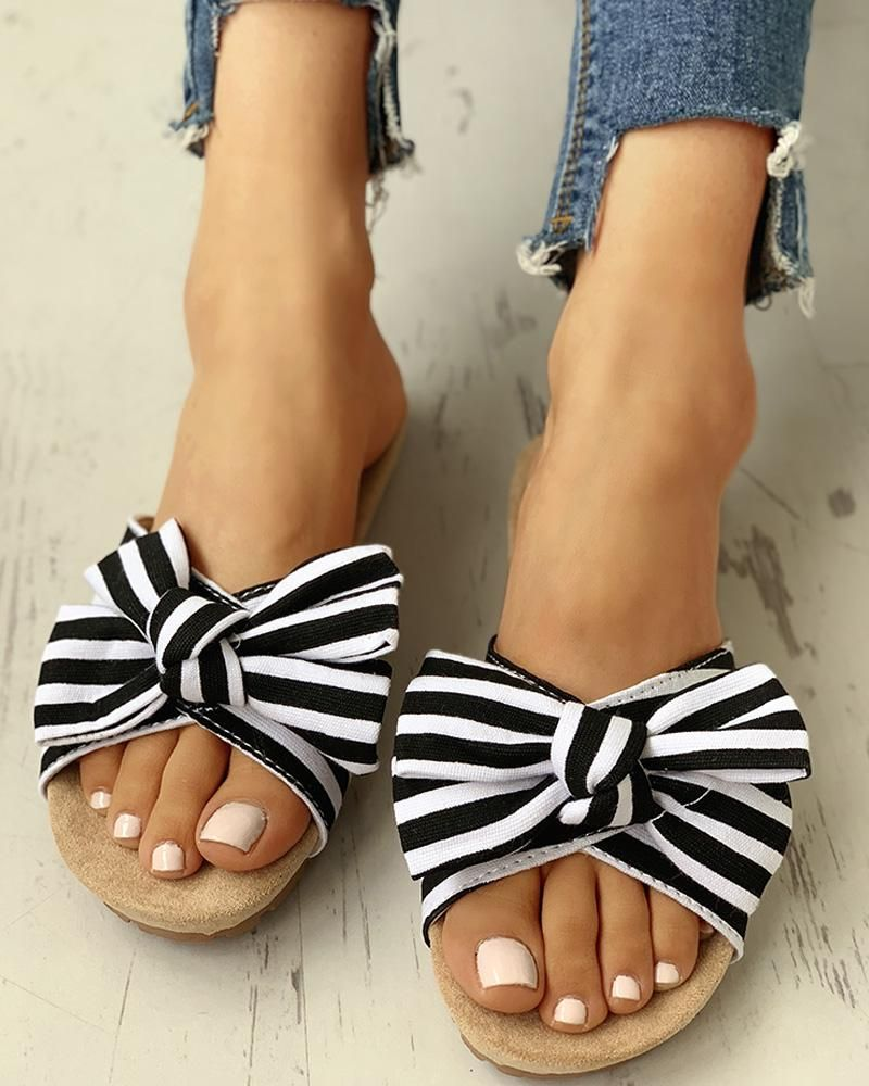Sweet Girls Casual Strap Bowknots Casual Patent Leather Sandals Shoes All Size