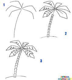 comment dessiner un palmier comment dessiner les arbres comment