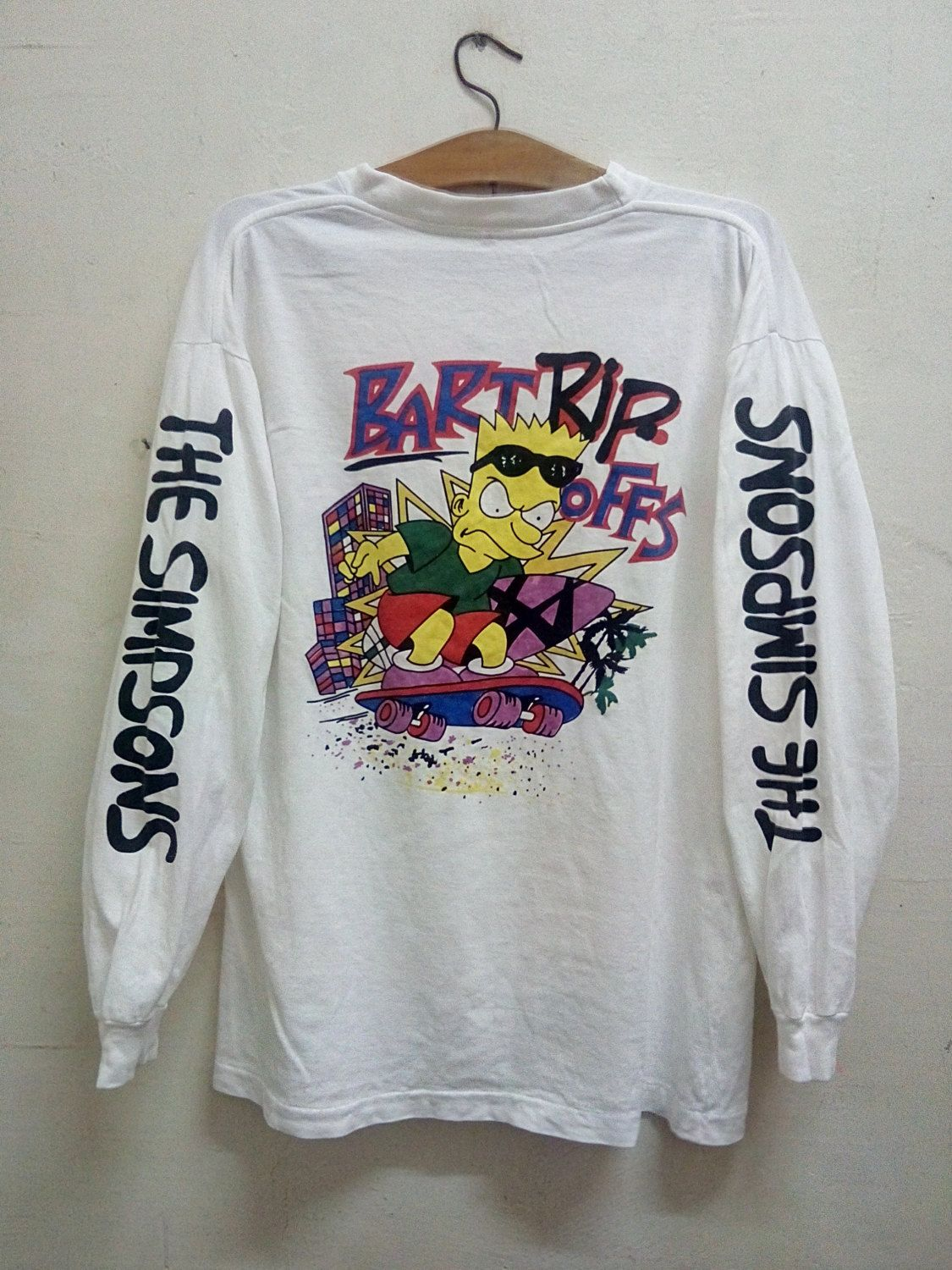 Shirt rip design - Vintage Badass Bootleg Cartoon Bart Simpsons Spell Out Design Bart Rip Offs Skate And Surf Long Sleeves Hip Hop Era Size L By Malayathriftzone On Etsy