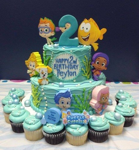 Swell Bubble Guppies Birthday Cake Topper Bubble Guppies Birthday Funny Birthday Cards Online Alyptdamsfinfo