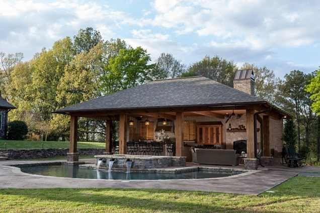 Rustic Pool House Pool House Designs Pool Houses Small Pool Houses