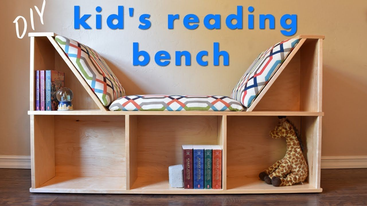 Diy Reading Nook Bench W Book Storage Youtube Bookcase Diy Bookshelves Diy Reading Nook Diy