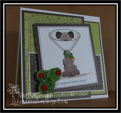 Martini Dog Card - Digi Image from Whimsie Doodles (LOVE THIS IMAGE)!