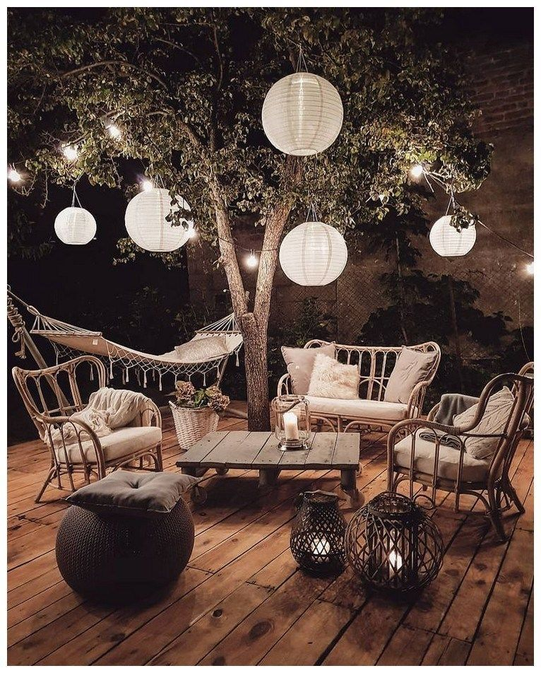 42 Small Patio Garden Decorating Ideas is part of Bohemian garden - 42 Small Patio Garden Decorating Ideas ~