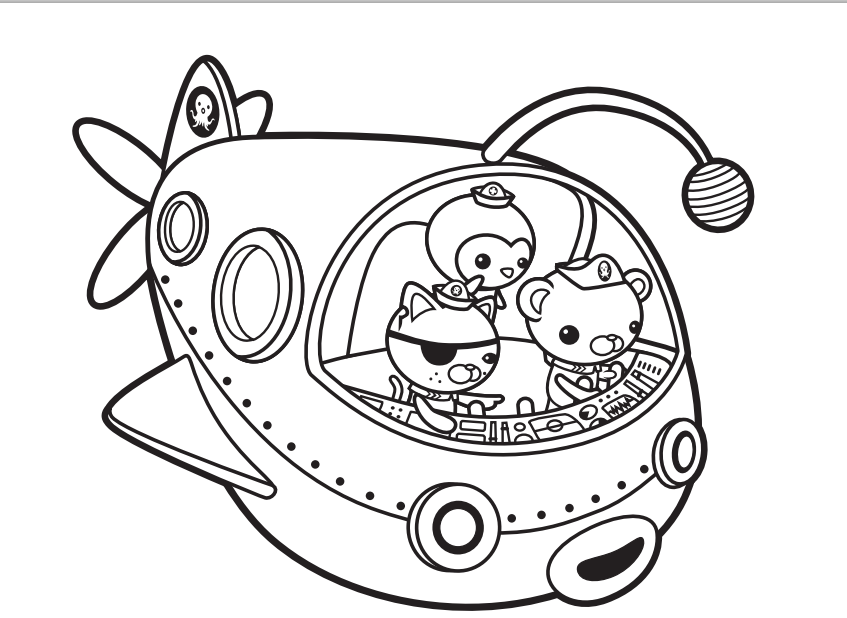 coloring pages to print octonauts | Octonauts Tweak Coloring Pages ...