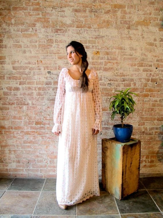 Vintage 1960s Pink and White Lace ,   by stateandmainvintage,
