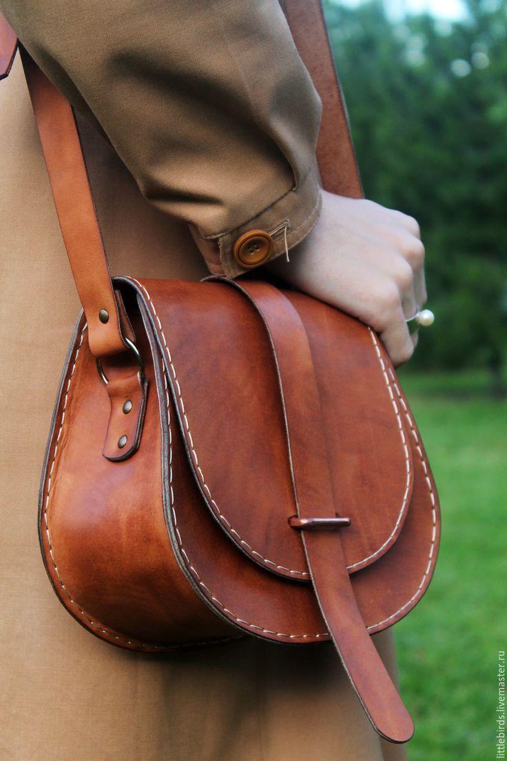 Photo of Leather pumpkin handbag – заказать на Ярмарке Мастеров – 8UQ7TCOM | Классическая сумка, St. Petersburg