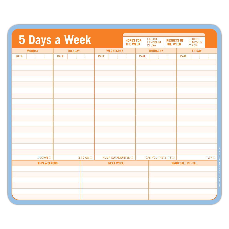 5 Days a Week Paper Mousepad | Mousepad, Knock knock and Fun desk ...