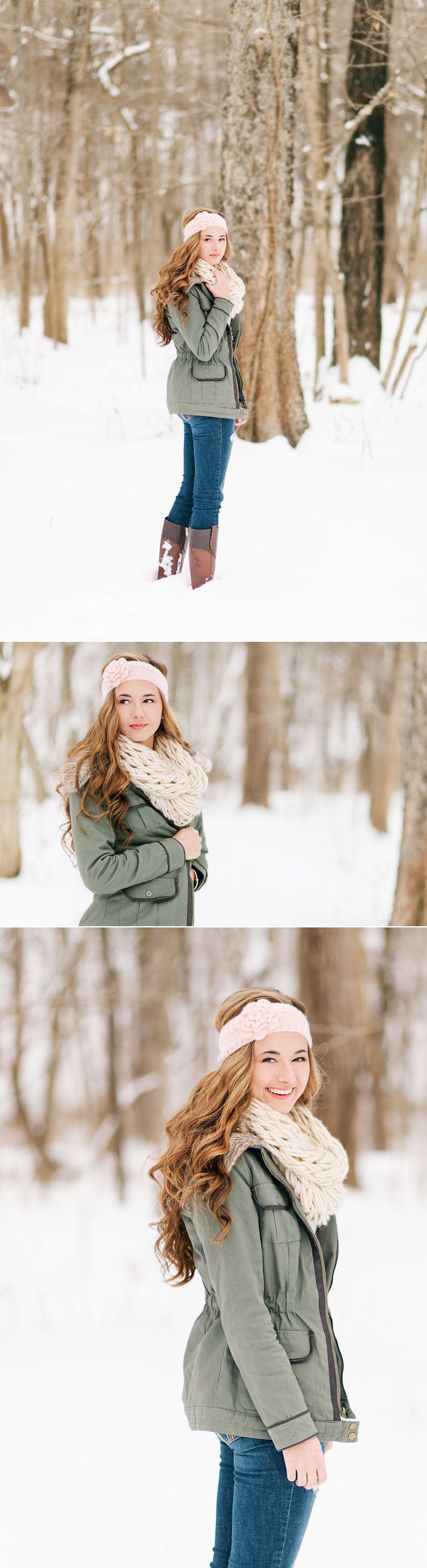 Lux Senior Photography - Snowy Senior Portraits in Bellbrook, Ohio
