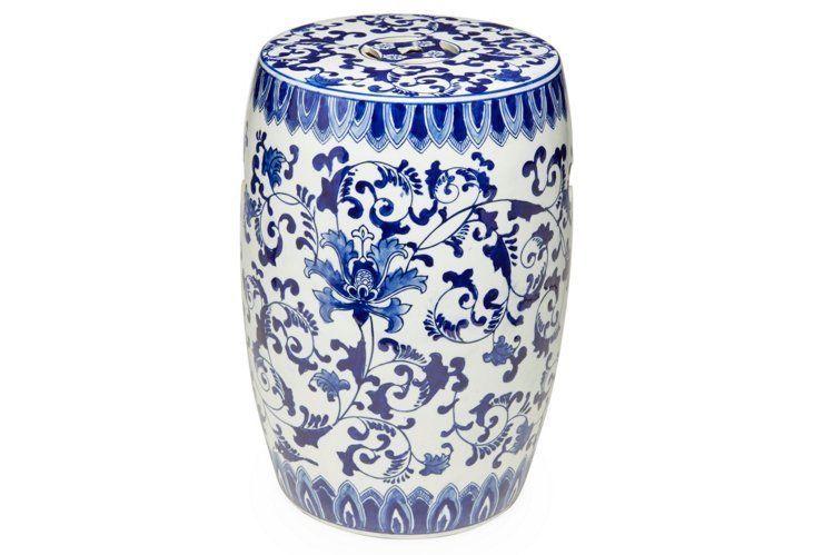 Cool Lovely Blue And White Garden Stool Inspire Living Rooms Frankydiablos Diy Chair Ideas Frankydiabloscom