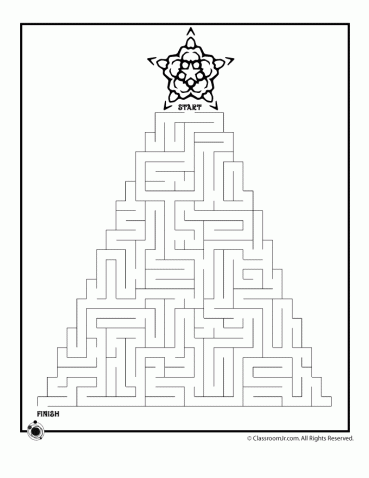 photo about Christmas Maze Printable named Printable Xmas Mazes Mazes Xmas maze