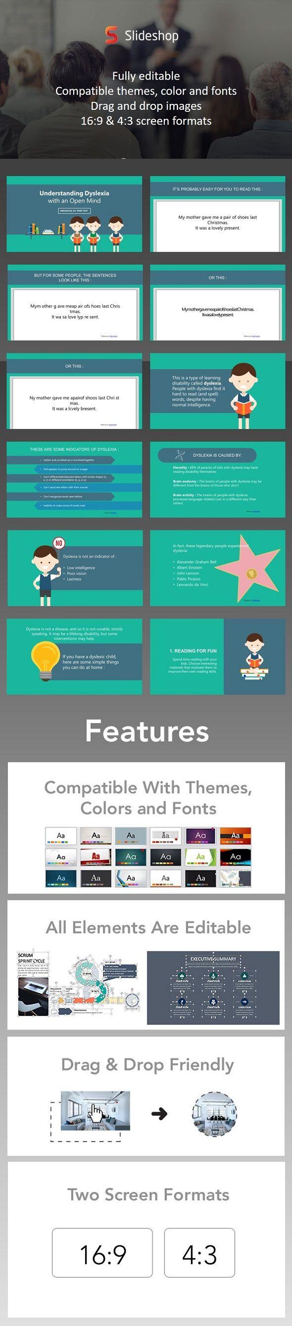 dyslexia | dyslexia, presentation templates and template, Presentation templates