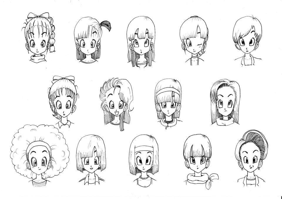 Dragon Ball Females Fan Art Bulma Hair Style Dragon Ball Art Dragon Ball Bulma