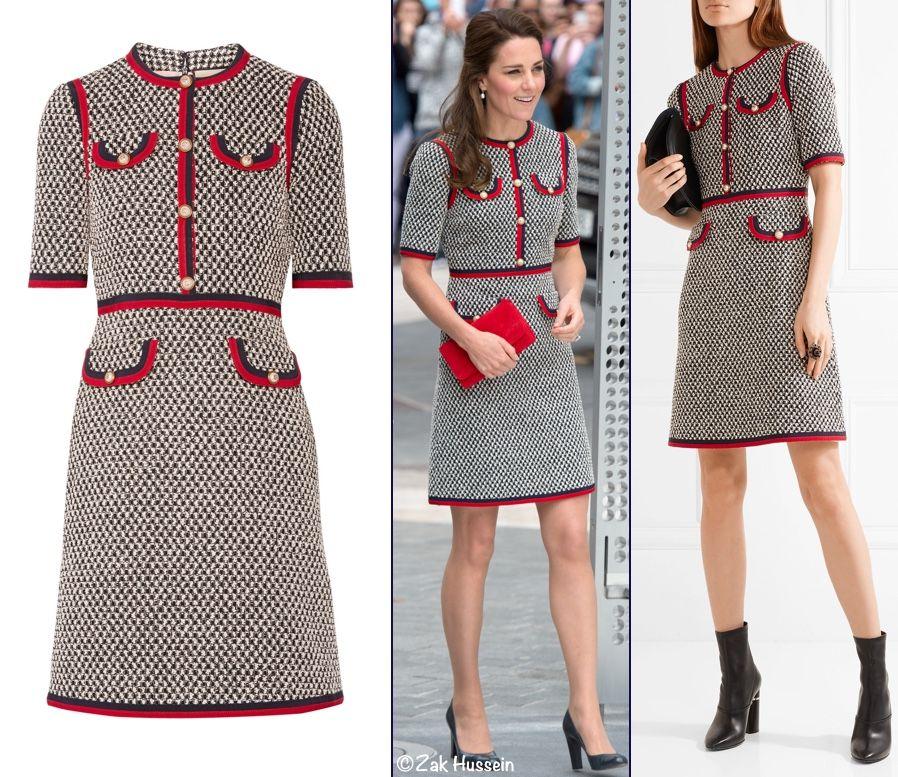 9c5cd03201 Kate Middleton Gucci Web Grosgrain dress