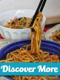 Slow cooker / Crockpot Chicken Lo Mein Noodles #slowcooker #slowcook #slowcookerrecipes #slowcookerchicken