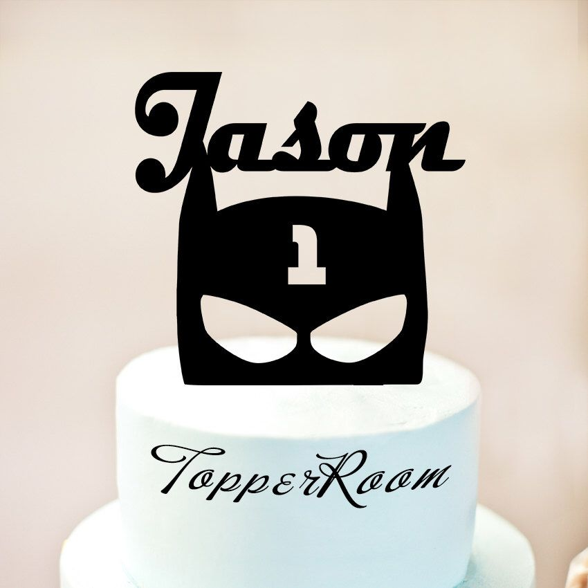 Batman birthday Cake TopperBatman symbol Cake TopperPersonalised