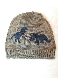 94d53eea7 Dinosaurs Hat pattern by Lynne Ulicki | Knit: Hats | Dinosaur hat ...