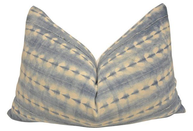 Love the soft shade and organic pattern on this lumbar pillow.