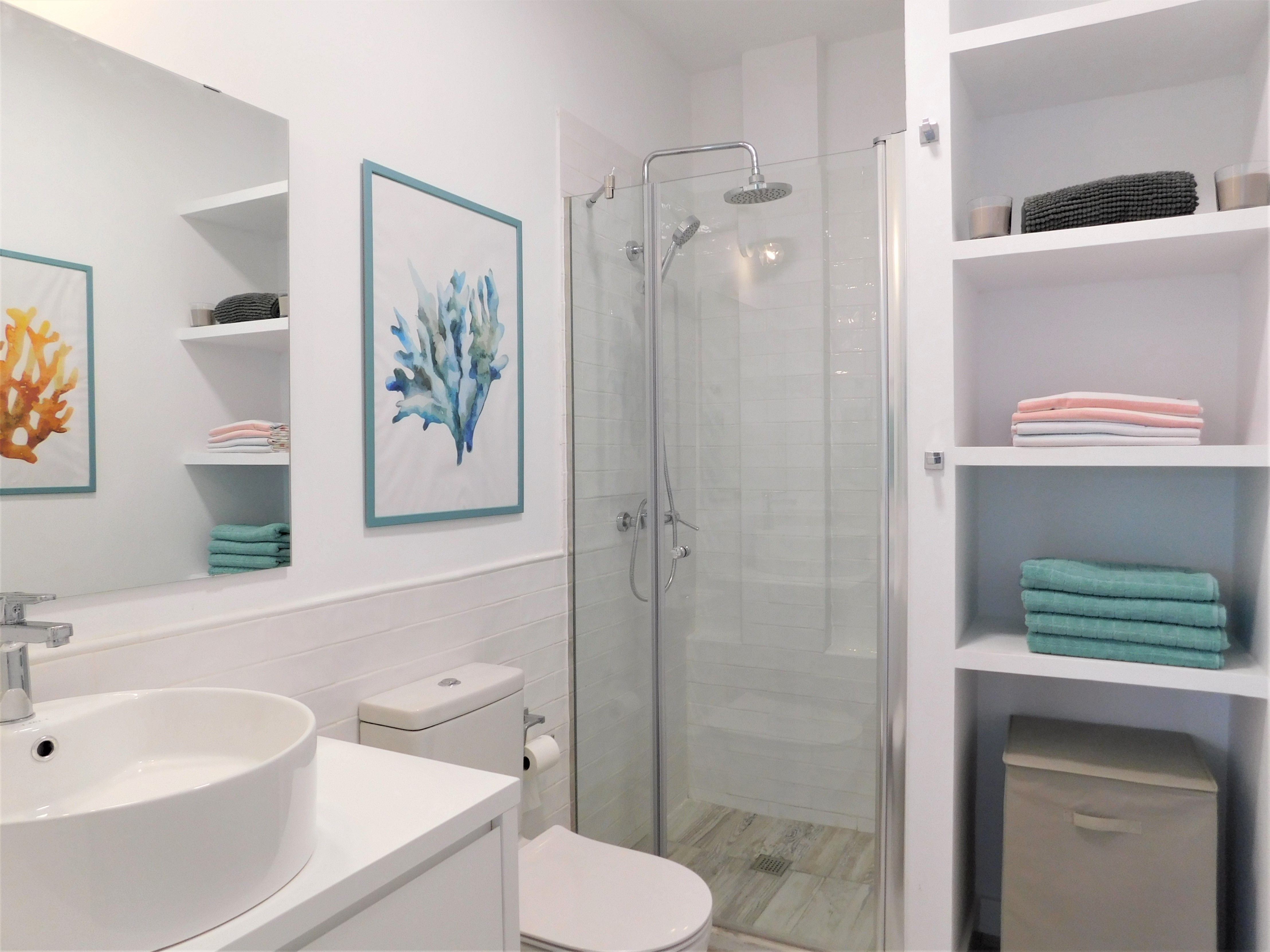 Reforma de ba o azulejo tipo ladrillo en acabado - Azulejos para duchas de obra ...