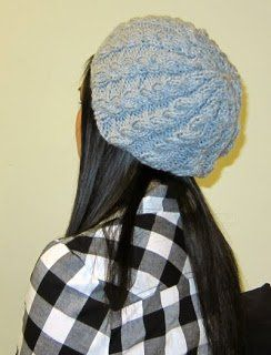 Free+Knitting+Pattern+-+Hats:+Slightly+Slouchy+Cabled+Hat