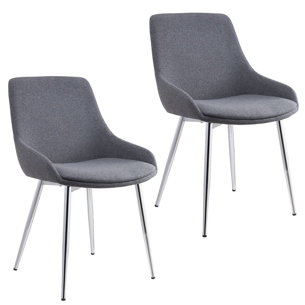 Parson Dining Chair With Grey Polyester