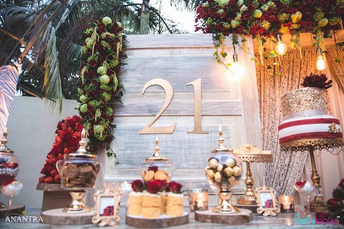 Rustic Vintage 21st Birthday Party 21st birthday parties 21st