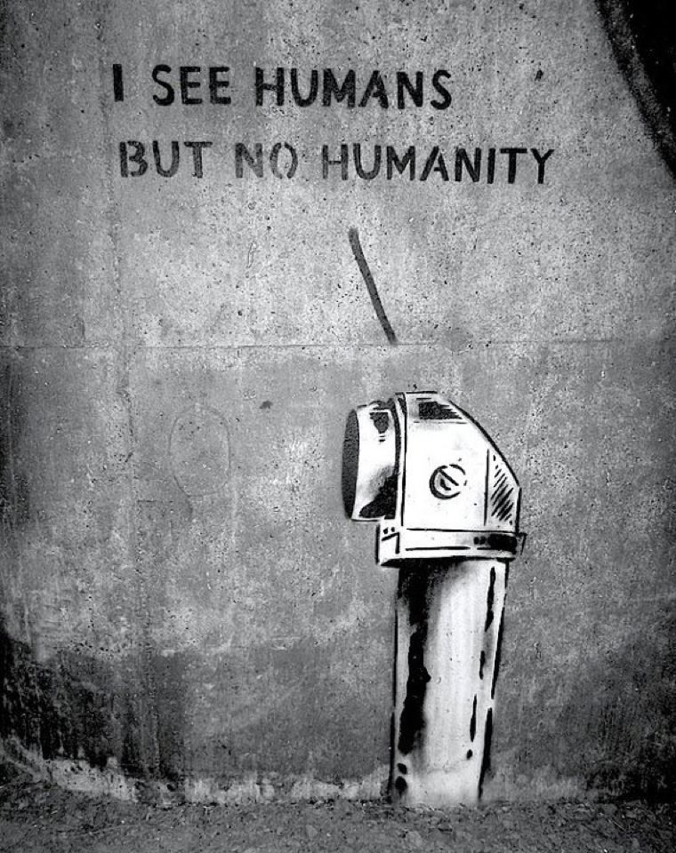 Street Art Art With A Message I Think It Is Saying That As A - People cant decide if theyre ok with this street artists ironic messages
