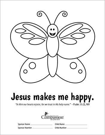 Send your sponsored child fun and meaningful coloring sheets. This ...