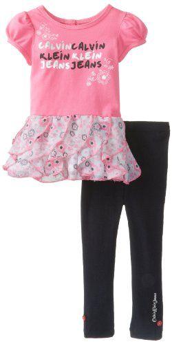 Calvin Klein Baby-Girls Infant Tunic with Leggings