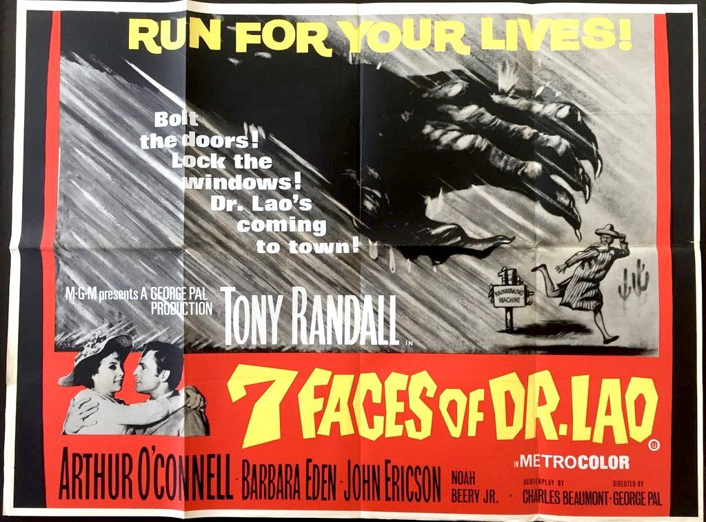 The 7 Faces Of Dr Lao 1964 With Images Barbara Eden Drive In Theater George