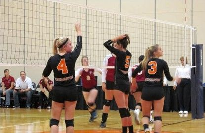 The Northampton Community College Spartans Volleyball Team Improved To 12 0 With A Sweep Of Delaware County Community Co Volleyball Team College Junior Athlete