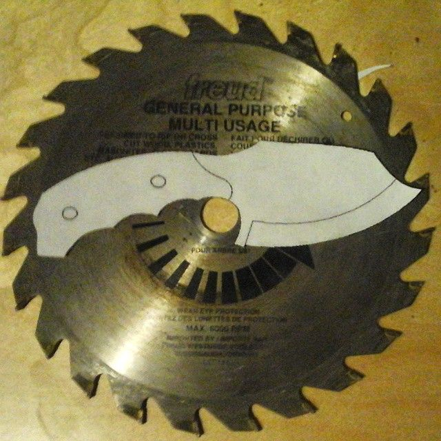 Ive Got Big Plans For This Knife Build I M Using An Old Saw Blade To Make The Blade Knifebuild Sawblade Sawblade Knife Saw Blade Knife Patterns