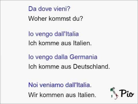 die erste italienische unterhaltung
