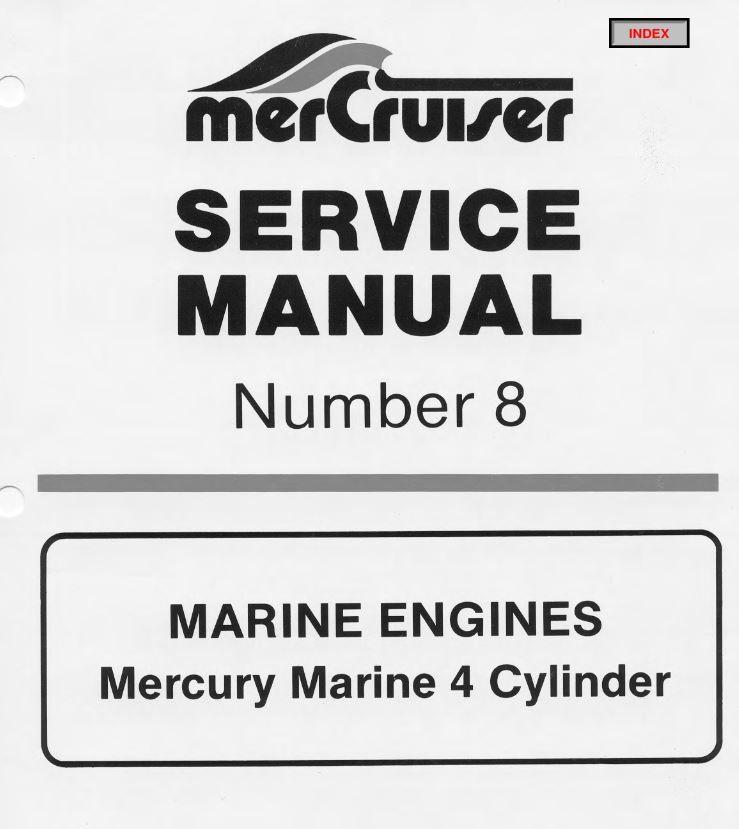 Free Download Mercruiser Marine Engines 4 Cylinder Service Manual Marine Manual Cylinder