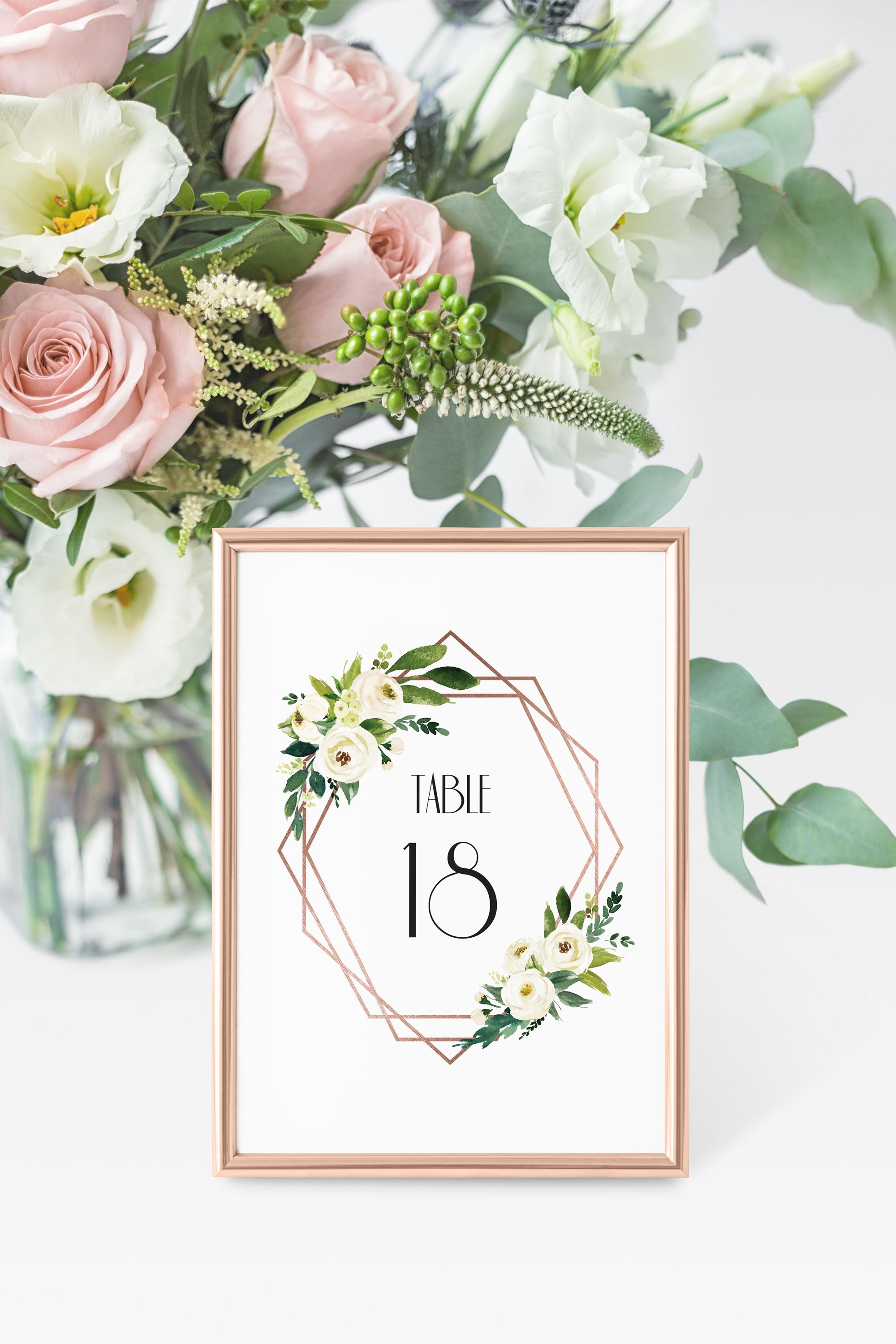 Printable table numbersrose gold table numbers wedding table