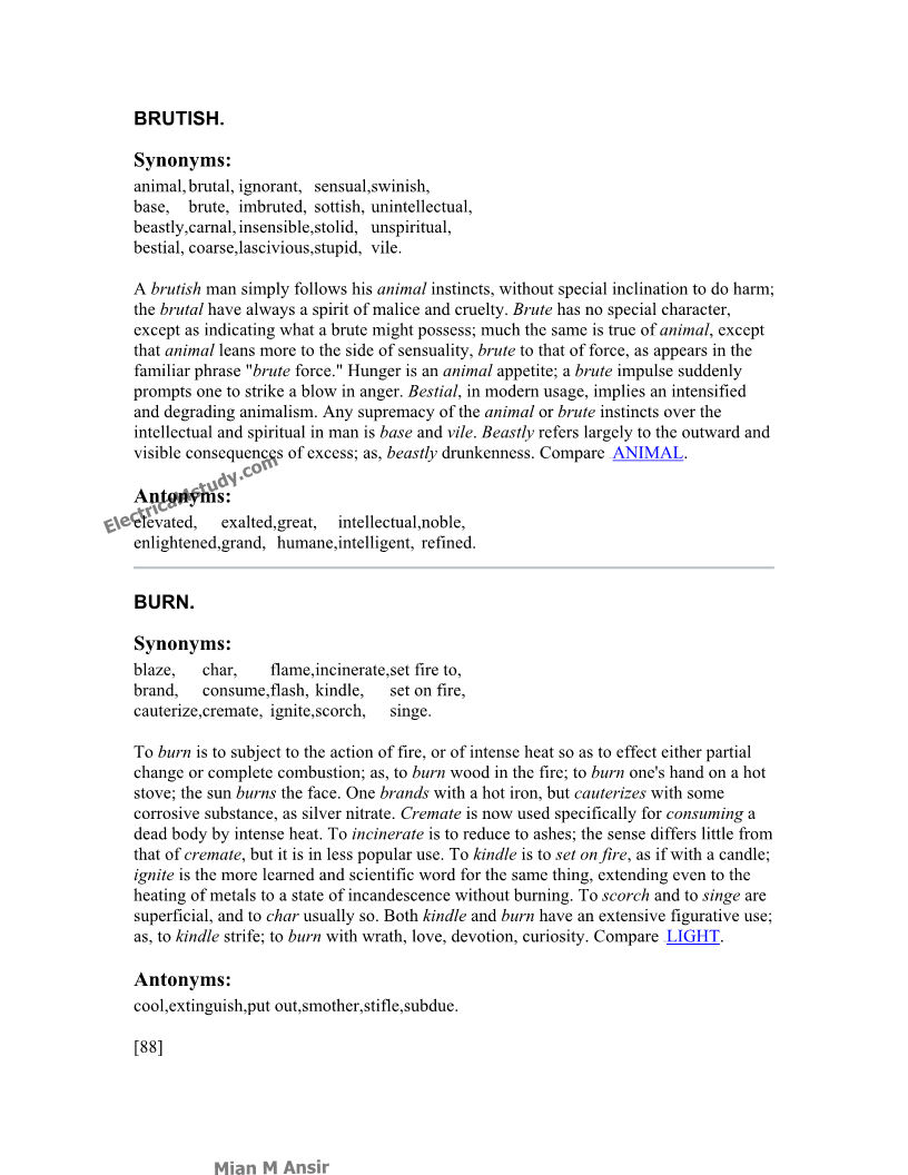 English Synonyms And Antonyms 4000 Words Free Text Synonyms And Antonyms Copycat
