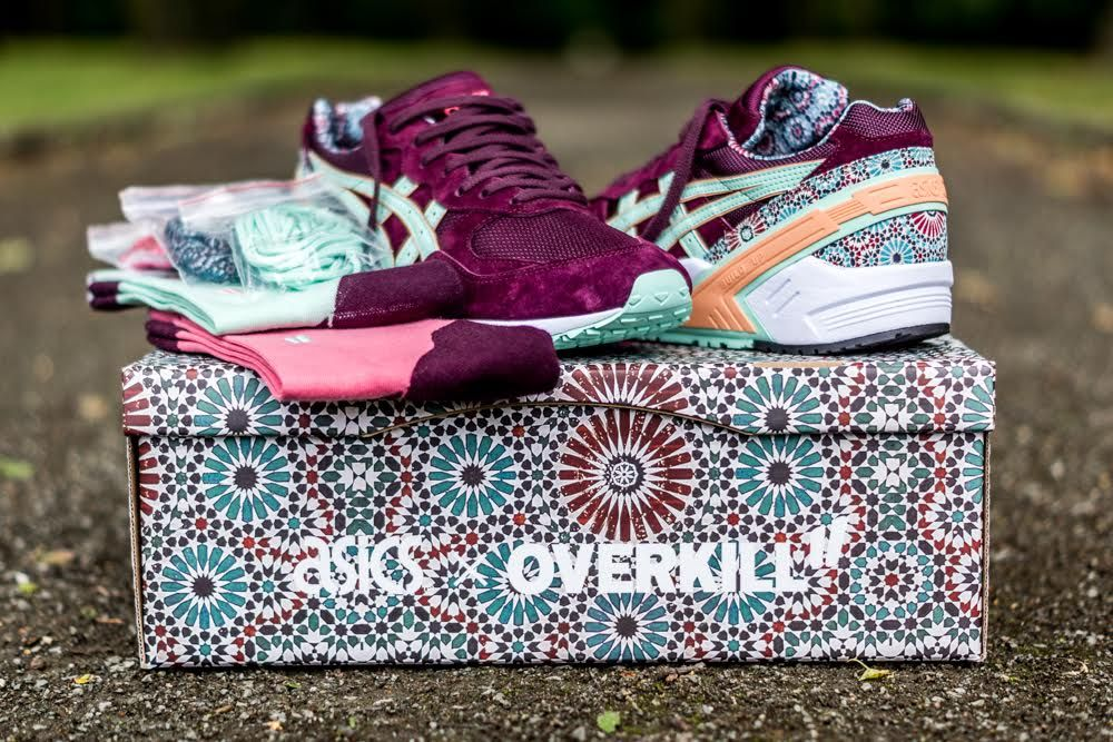 overkill x asics gel sight desert rose buy