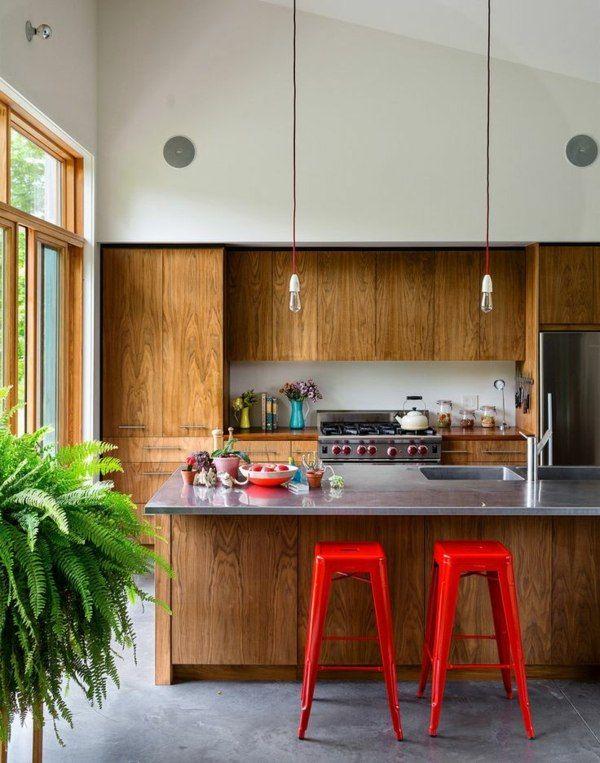 Massivholz Unterspülschrank mit Edelstahl Arbeitsfläche   Küche ...