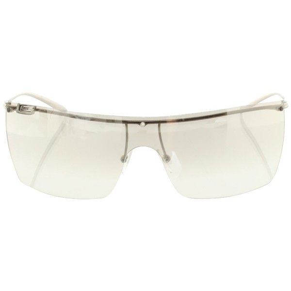 99b8b6740c558 Pre-owned Monoshade glasses with logo ( 115) ❤ liked on Polyvore featuring  accessories