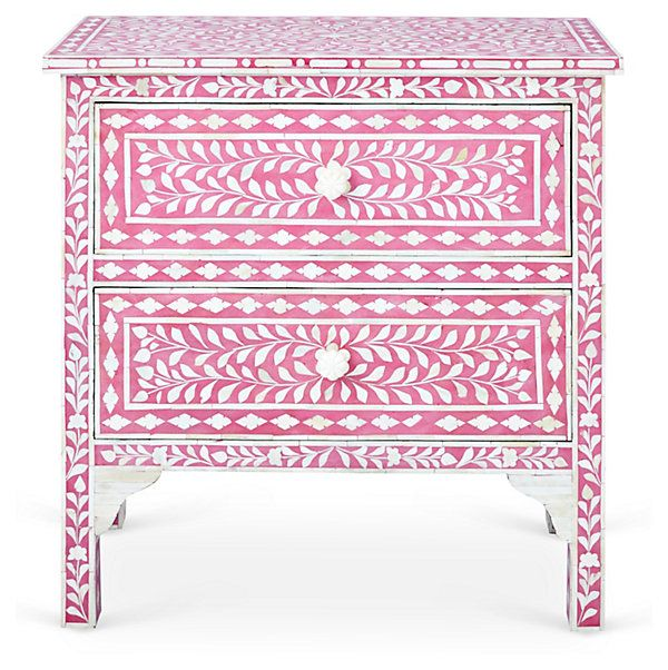Gloria Accent Chest, Pink/Ivory Colors That Complement One Kings - Lane Bedroom Furniture