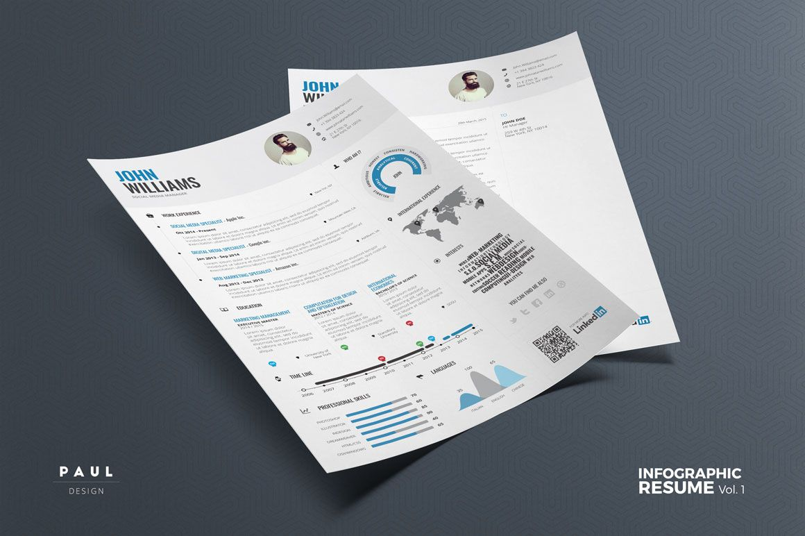 Infographic Resume/Cv Template Vol.1 Infographic resume