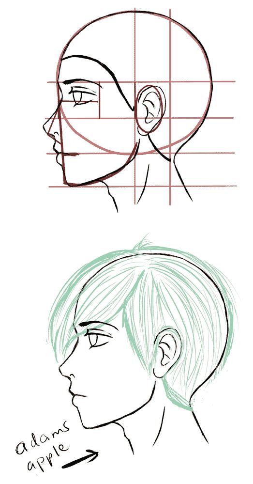 Manga Reference Charts Manga Tuts Side Face Drawing Drawing Tutorial Face Face Side View Drawing