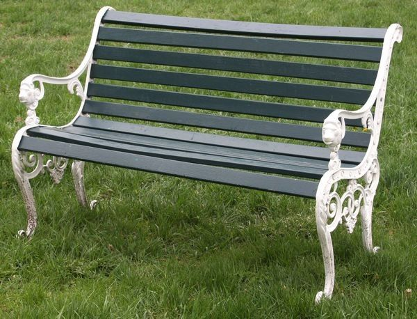 Painted Park Benches Google Search Wrought Iron Bench Yard