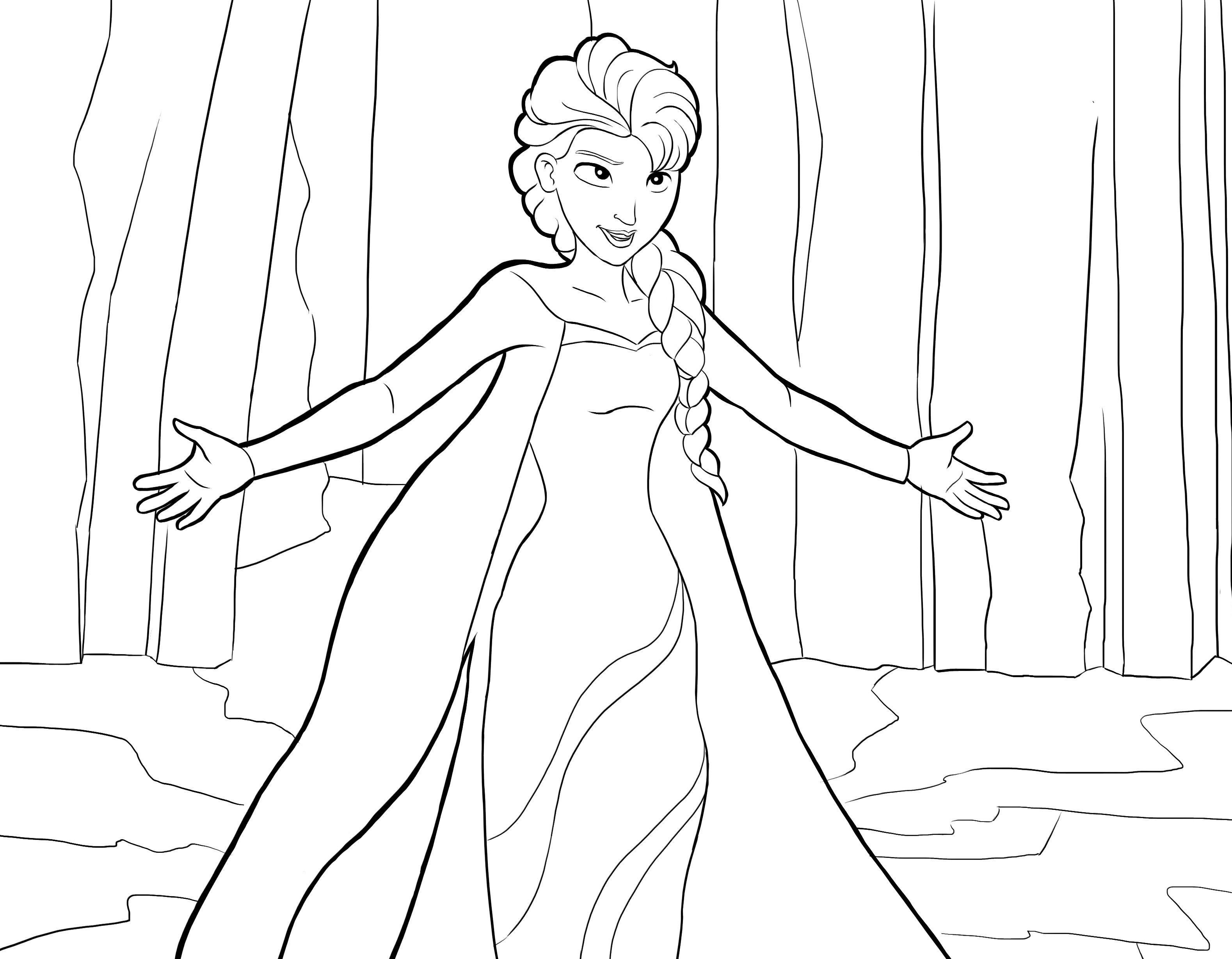 Queen Elsa Of Arendelle Also Known As The Snow Queen Is A Fictional Character Who Appears In Walt D Frozen Coloring Pages Elsa Coloring Pages Frozen Coloring