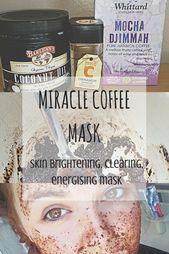 Wonder Coffee Face Mask for clearer lighter skis