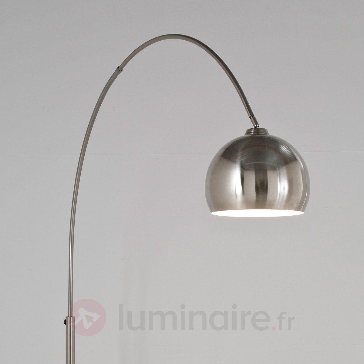 lampadaire arqu lounge satin lampadaire pas cher. Black Bedroom Furniture Sets. Home Design Ideas
