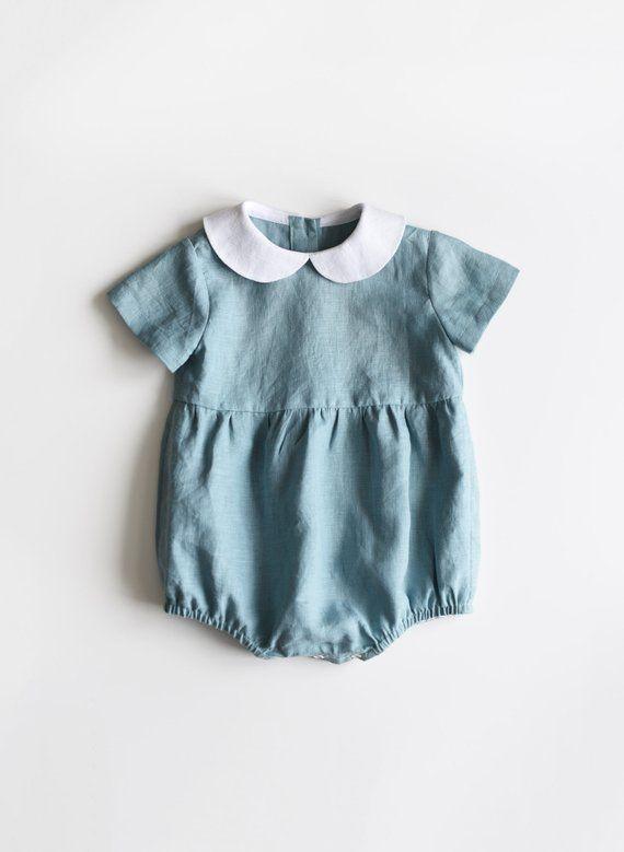 4637c7542b88 Linen Baby Romper