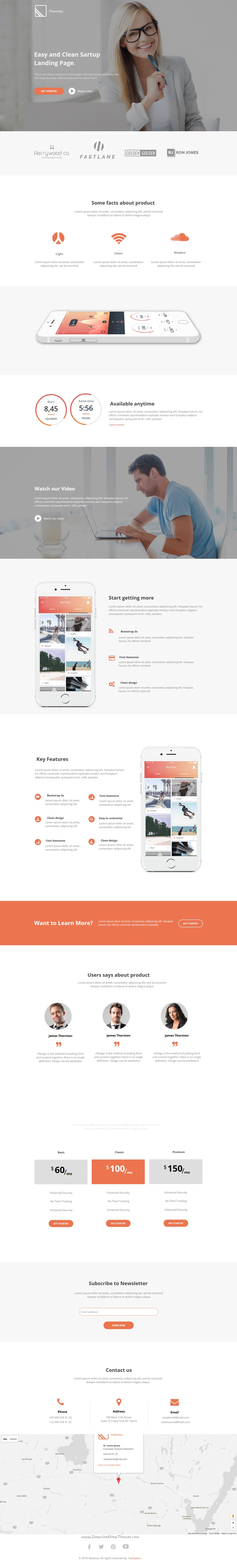 Vanessa is light and modern design premium #Instapage #landingpage template for #startup or apps website download now➯ https://themeforest.net/item/vanessa-easy-startup-instapage-landing-page-/16955033?ref=Datasata