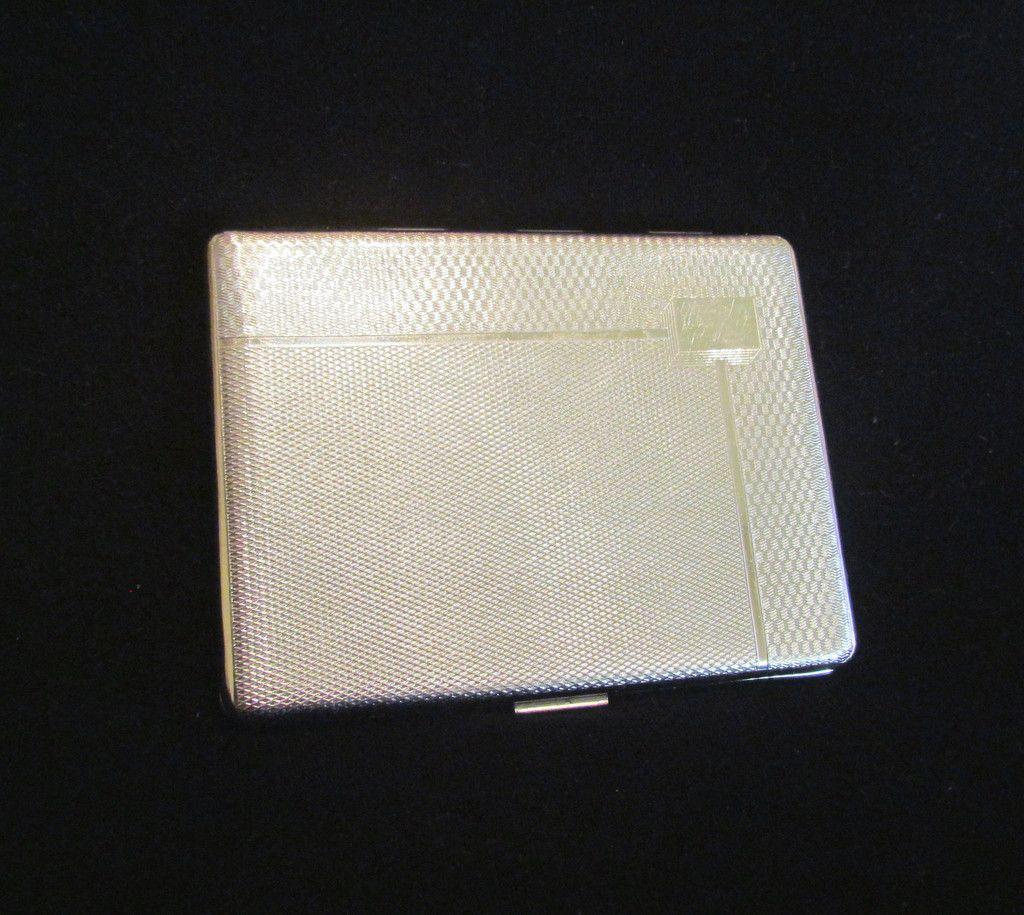EMU Chrome Cigarette Case Art Deco Business Card Case Credit Card ...
